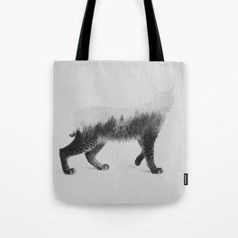 The Lynx (black & white version) Tote Bag