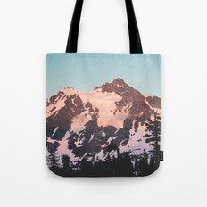 Pink Cascade Mountain Tote Bag