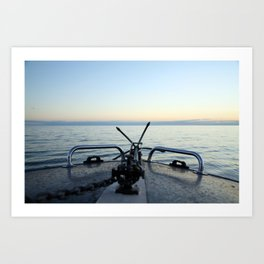 Boating Away Art Print