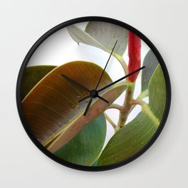 Green Plant Leaves 02 Wall Clock