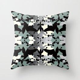 Shadow Frost- Art Deco Decoupage Throw Pillow