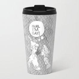 GURL... I'M GAY! (Peter Pan) Travel Mug