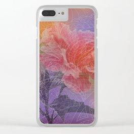 zen pattern hibiscus Clear iPhone Case
