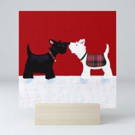 Scottie Dogs Tartan Mini Art Print
