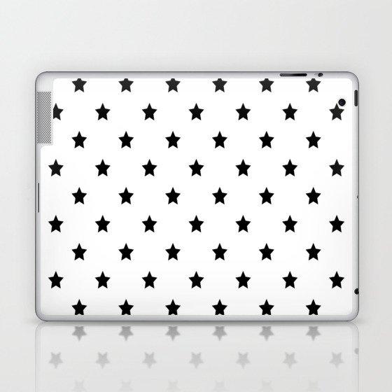 Black and white Star Pattern Laptop & iPad Skin