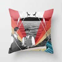 science Throw Pillows featuring Science by Chris Newton