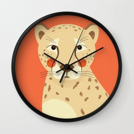 Cheetah, Animal Portrait Wall Clock