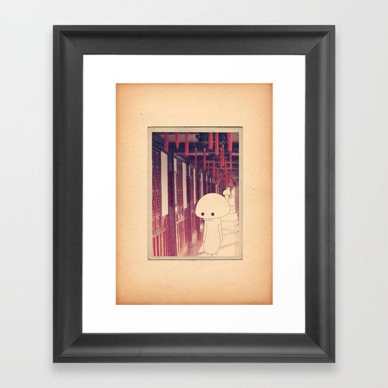 l a n t e r n e r o s s e Framed Art Print