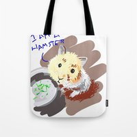 hamster Tote Bags featuring Hamster by wingnang