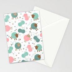 Knitting sheep Stationery Cards