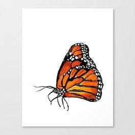 Watercolor Monarch Butterfly in Flight Canvas Print