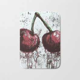 Oil and Cherries Bath Mat