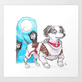 DogDays19 Wylie Art Print