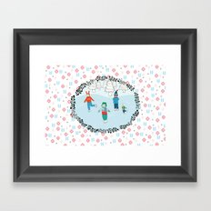 Ice Skating Animals Framed Art Print