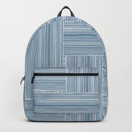 Steel Blue Wicker Surface Texture Backpack