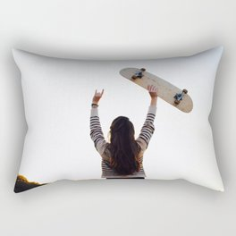 for the love of skateboarding Rectangular Pillow