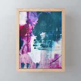 Complexity: a pretty abstract mixed-media piece in teal and purple by Alyssa Hamilton Art Framed Mini Art Print