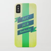 snowboarding iPhone & iPod Cases featuring Snowboarding by Cohen McDonald