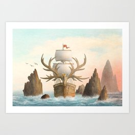 The Antlered Ship_Cover Art Print