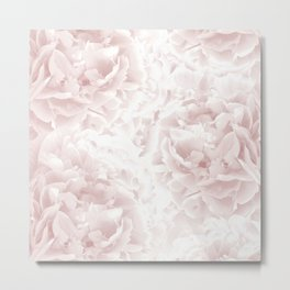 Blush Rose Peonies Dream #1 #floral #decor #art #society6 Metal Print