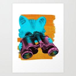 Future belongs to Curious Art Print