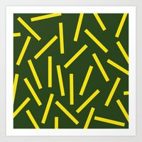 fries Art Prints featuring Fries by Alberto Antoniazzi