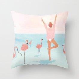 Big Flamingo Throw Pillow