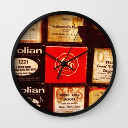 Piano Rolls Square Wall Clock
