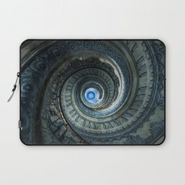 Decorated spiral staircase in blue tones Laptop Sleeve