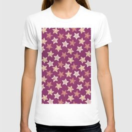 Festive Stars Purple T-shirt