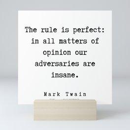 63      Mark Twain Quotes   190730 Mini Art Print