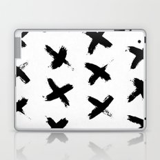 X Marks the Spot Black Ink on Paper Laptop & iPad Skin