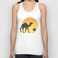 camel Tank Tops featuring Camel by Geni