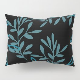 Leafy Teal Pillow Sham