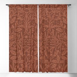 William morris Acorns and oak leaves design (1880) Blackout Curtain