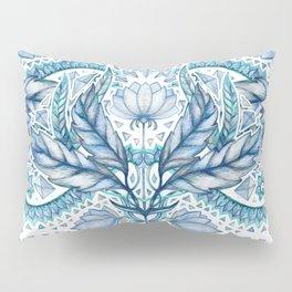 Lily, Leaf & Triangle Pattern – blues Pillow Sham