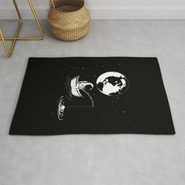 Astronaut Fishing in Space Rug
