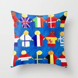 Euro Babies Throw Pillow