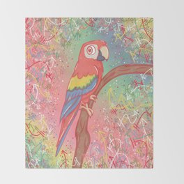 Magnificent Little Macaw Throw Blanket