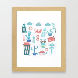 Travel pattern 3vb Framed Art Print