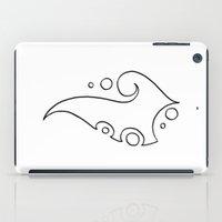 tina crespo iPad Cases featuring Tina / تينة (lineart) by Jezunya