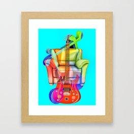 Play My Guitar Framed Art Print