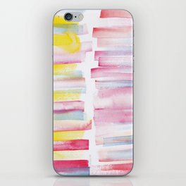 9 | 181101 Watercolour Palette Abstract Art | Lines | Stripes | iPhone Skin