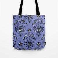 haunted mansion Tote Bags featuring Phantom Manor - Haunted Mansion by Katikut