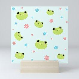 Flower Power Frogs Mini Art Print