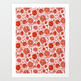 Belle Chanterelle, Orange Pop Art Print