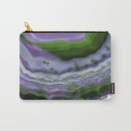 Purple and Green Agate Carry-All Pouch