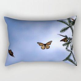Monarchs flying Rectangular Pillow