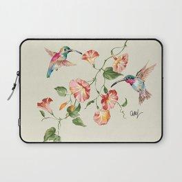 hummingbirds & morning glories Laptop Sleeve