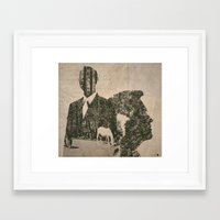 true detective Framed Art Prints featuring true detective by Alba Blázquez